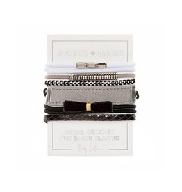 By Lilla Hair Ties Stack - Black Tie