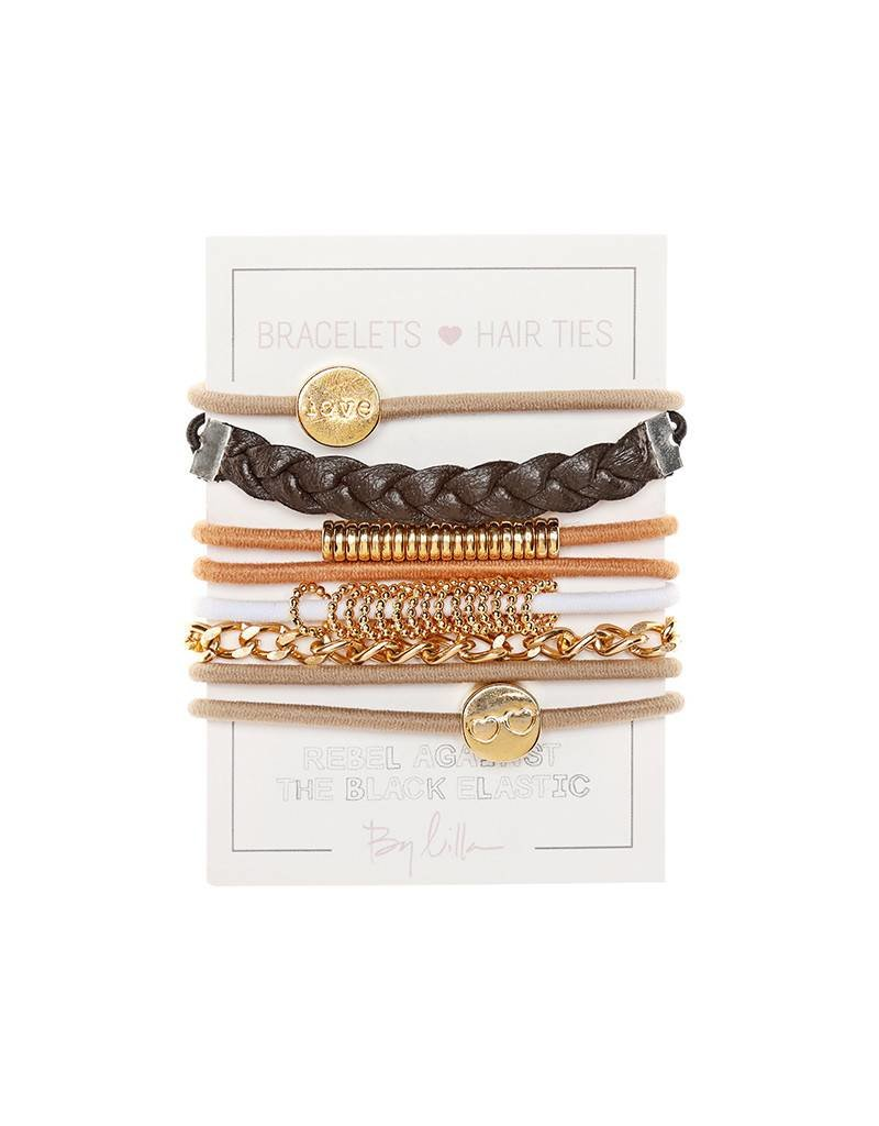 By Lilla Hair Ties Stack - Ginger Bread