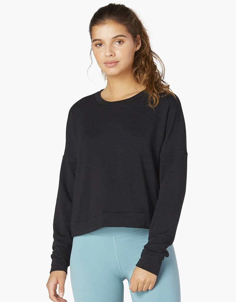 Beyond Yoga Color Streak Cropped Pullover