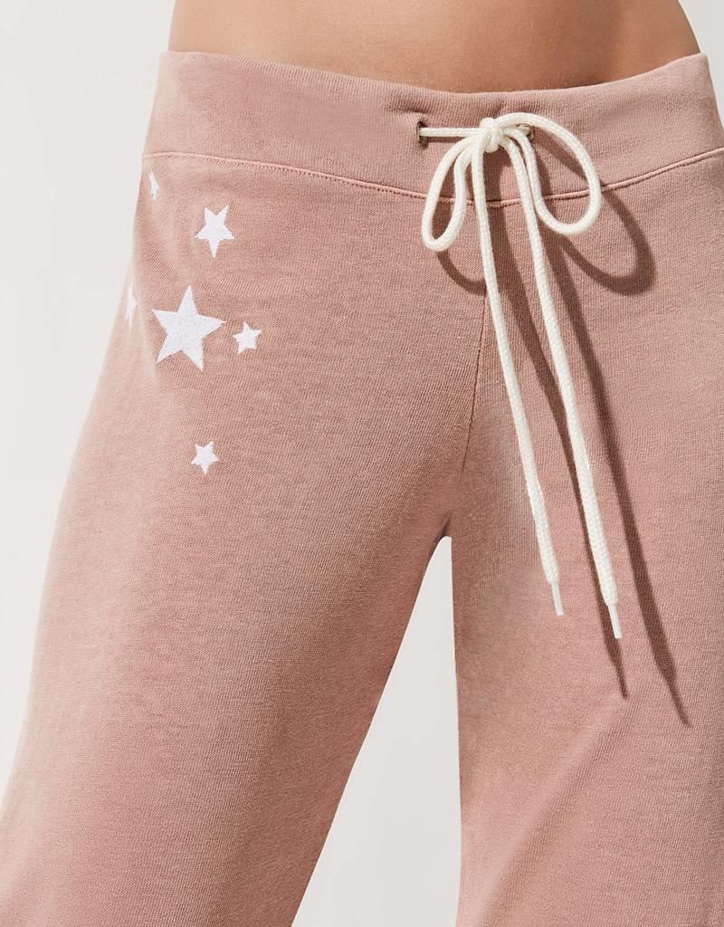 MONROW Embroidered Stars Vintage Sweats