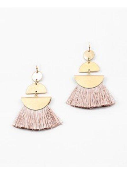 Mint + Major Geo Fringe Earrings