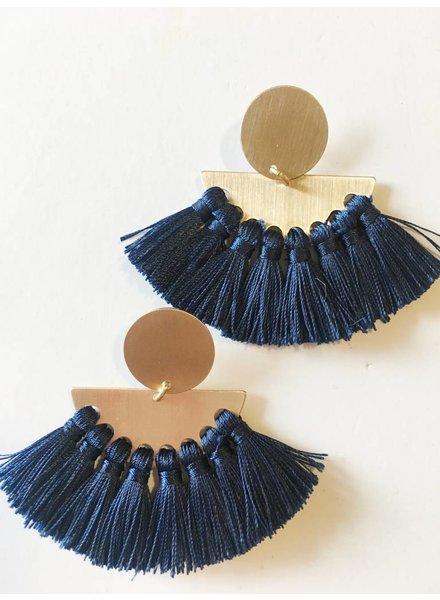 Mint + Major Post Fringe Earrings
