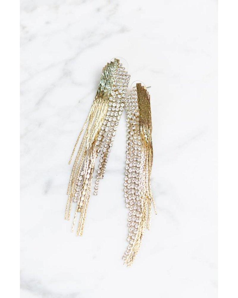 Mint + Major Metal & Stone Earrings