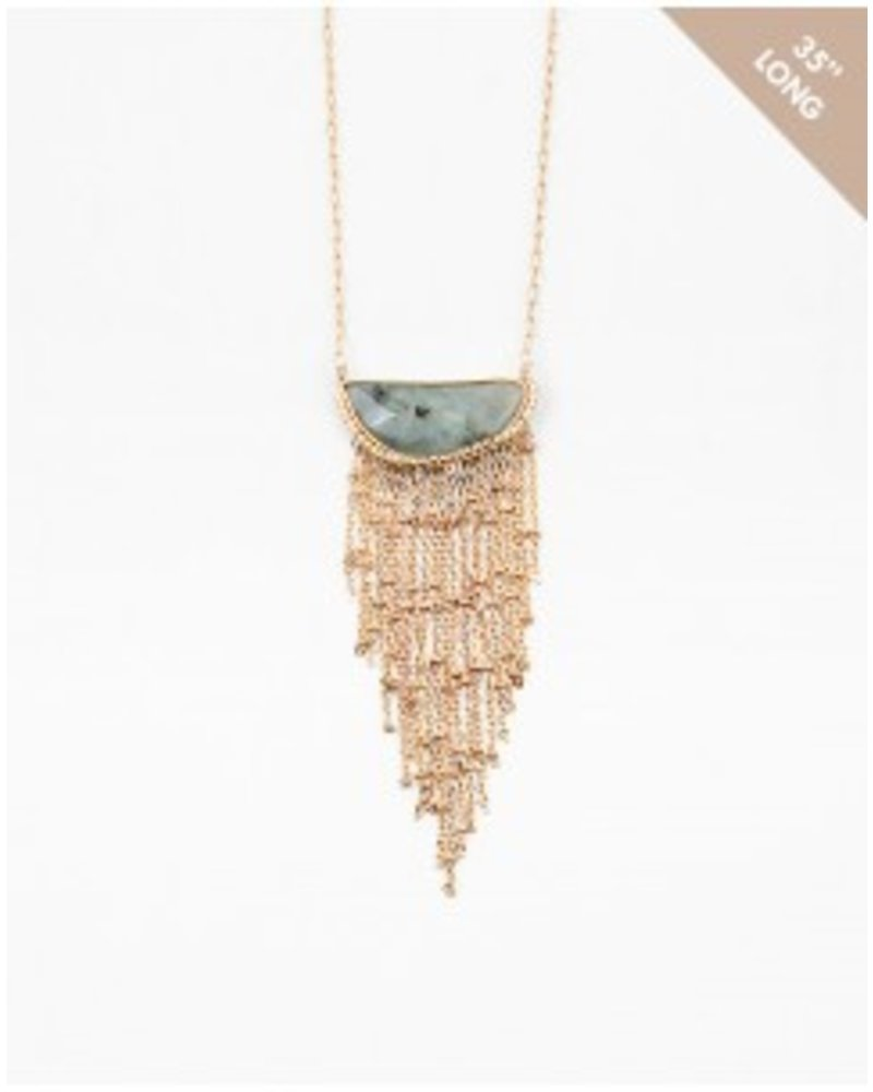 Mint + Major Stone Chain Necklace