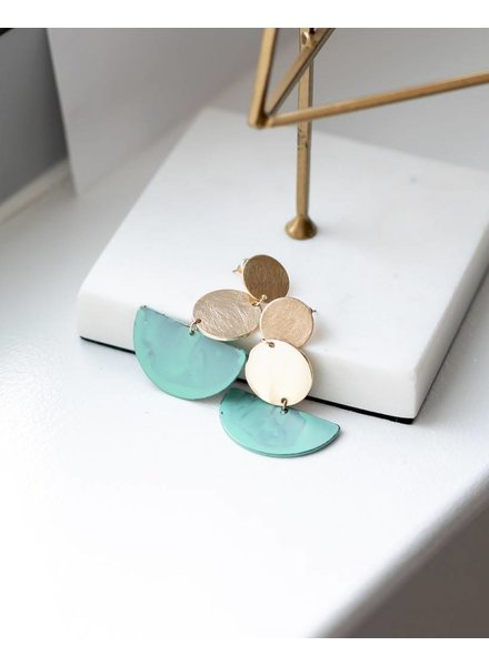 Mint + Major Three Tiered Patina Earrings