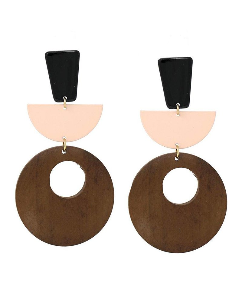 Mint + Major Resin & Wood Earrings