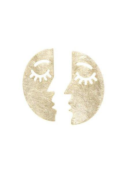 Mint + Major Post Face Earrings
