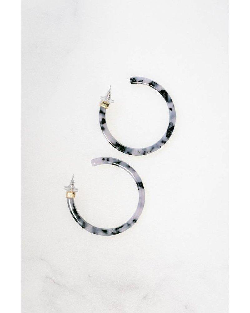 Mint + Major Large Resin Hoop Earrings