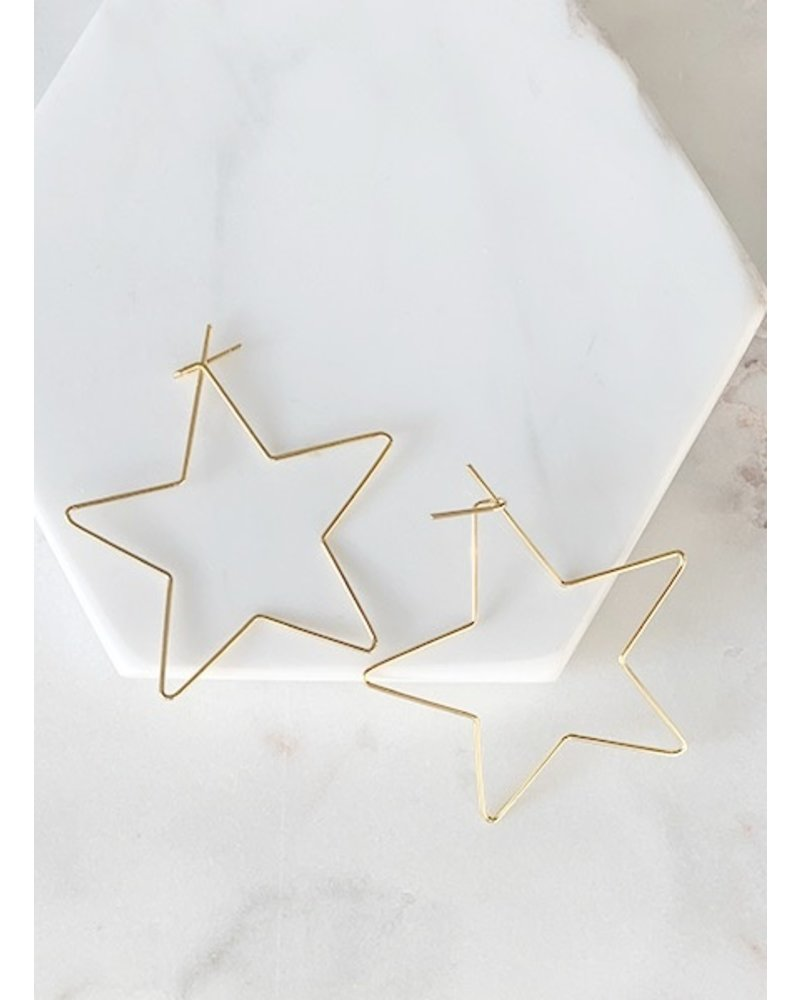 Mint + Major Medium Star Hoops