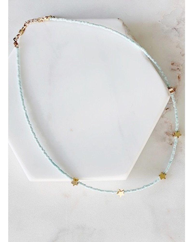 Mint + Major Mini Star Choker