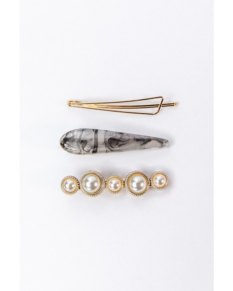 Petit Moments Trio Smoke Barrette Set