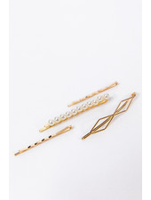 Petit Moments Set of Four Diamond & Pearl Bobby Pin Set
