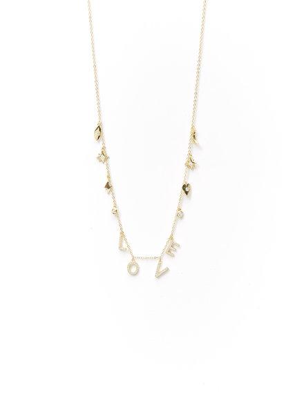 Mint + Major Multi Charm & Love Necklace