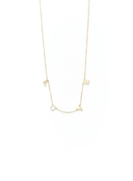 Mint + Major Love Pave Necklace