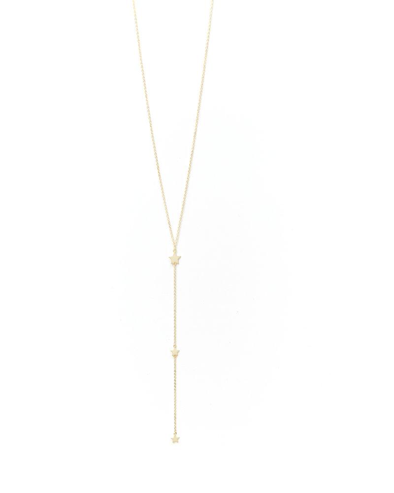 Mint + Major Y Three Star Necklace