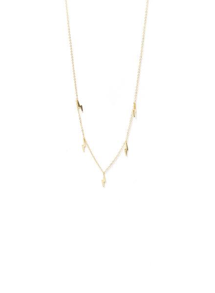 Mint + Major Multi Lighting Bolt Necklace