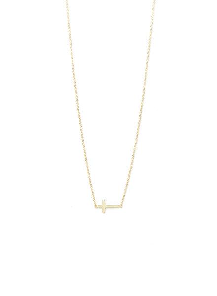 Mint + Major Sideways Cross Necklace