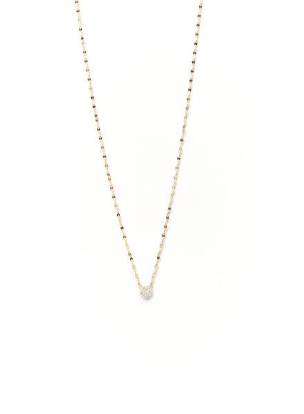 Mint + Major Circle Pave Necklace