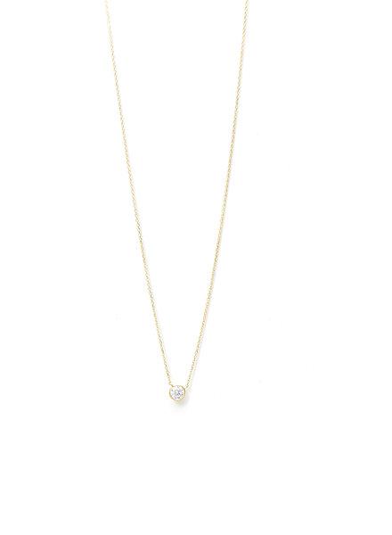 Mint + Major Single Stone Necklace