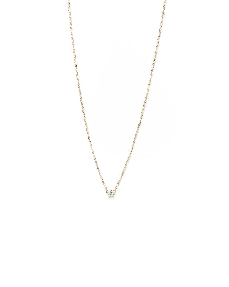 Mint + Major Mini Star Necklace
