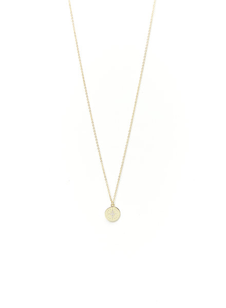 Mint + Major Mini Star Coin Necklace