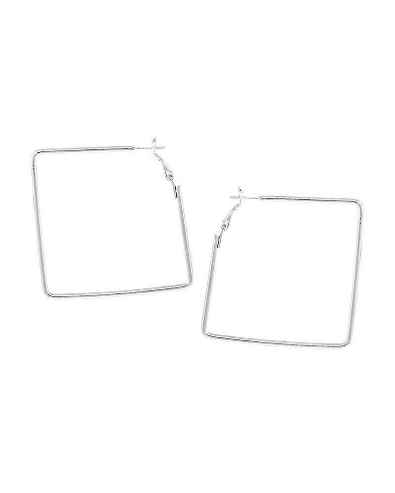 Mint + Major Square Medium Hoop