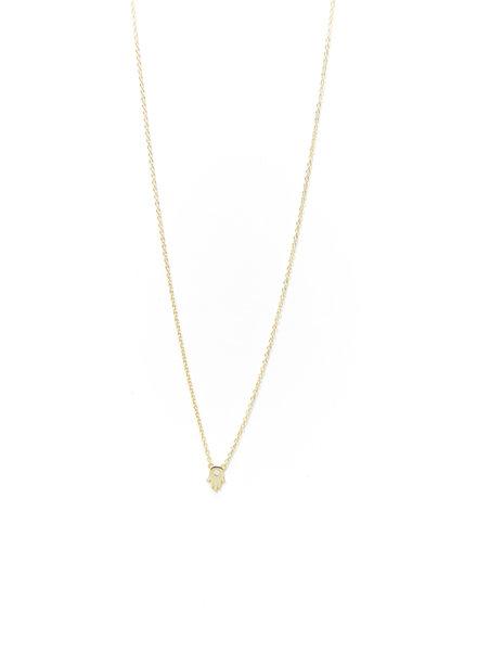 Mint + Major Mini Hamsa Necklace