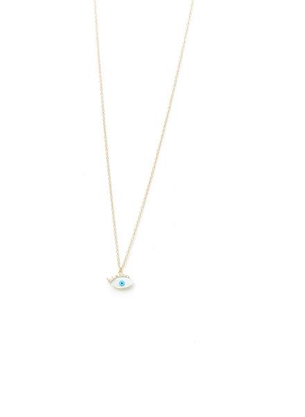 Mint + Major Single Eye Wink Necklace