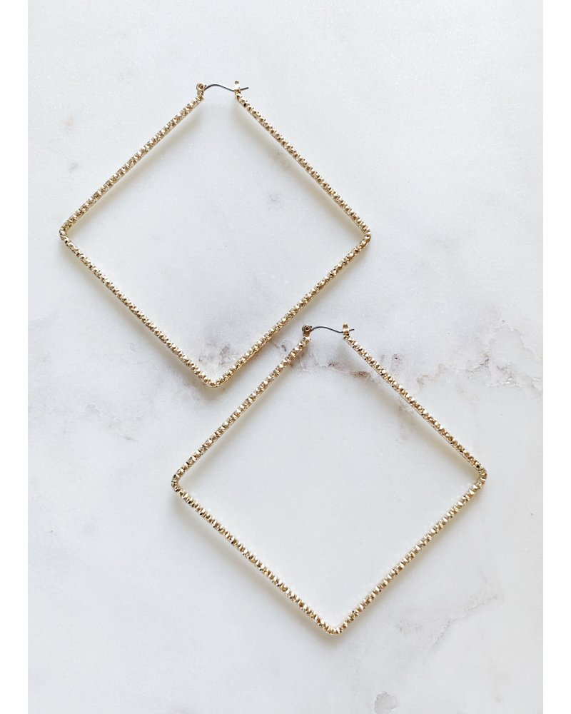 Mint + Major Oversized Square Hoop