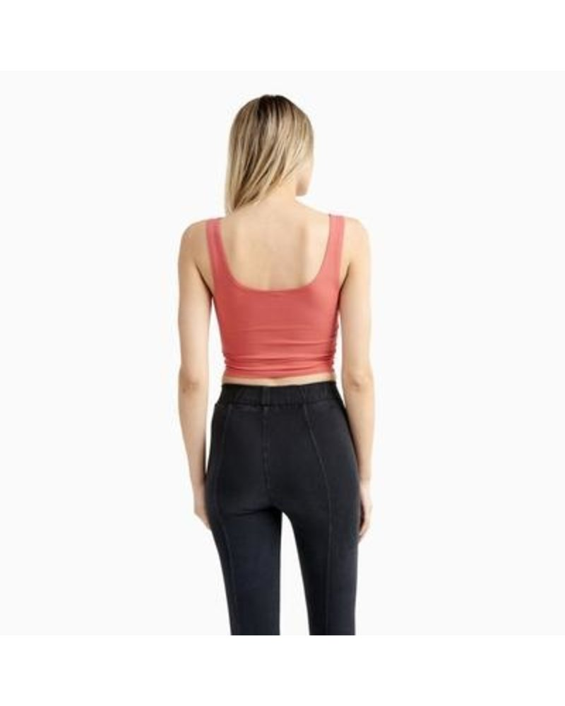 Organic Fitted Crop Tank