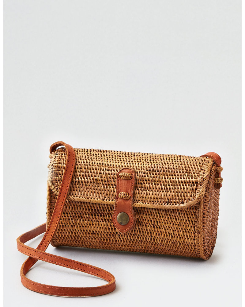 Carry Me Away Rattan Clutch