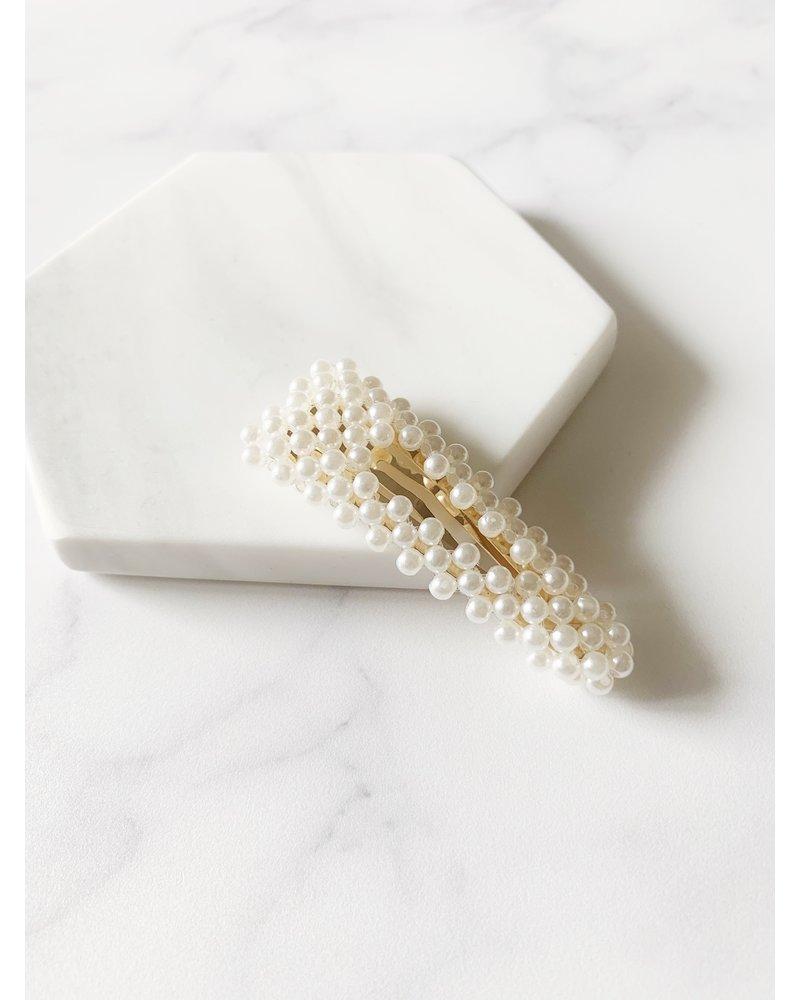 Mint + Major Pearl Hair Clip
