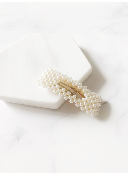 Mint + Major Square Pearl Hair Clip