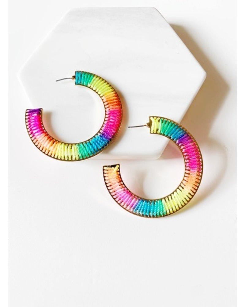 Mint + Major Rainbow Hoops