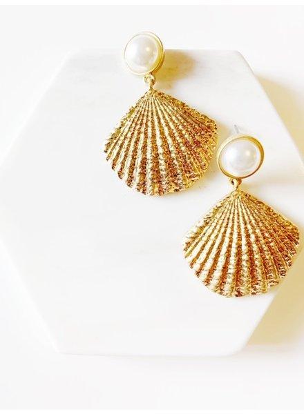 Mint + Major Pearl & Shell Earrings