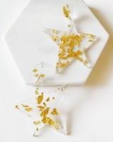 Mint + Major Gold Foil Star Earrings