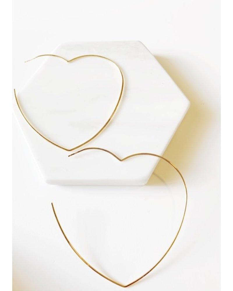Mint + Major Oversized Heart Hoop