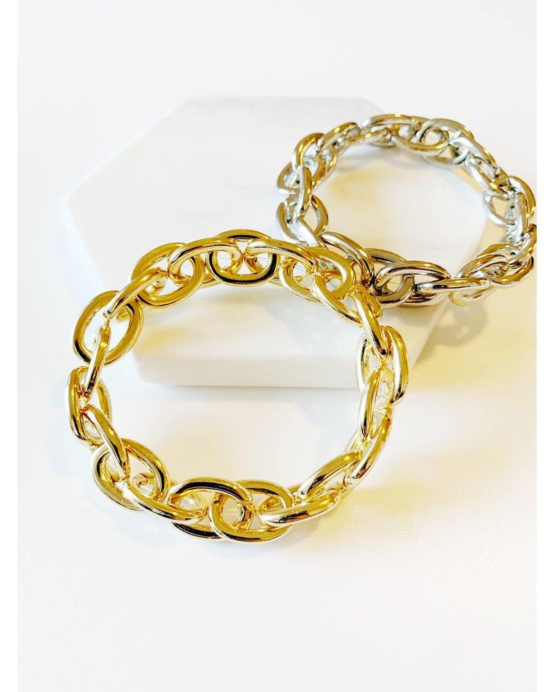 Mint + Major Stretch Chain Link Bangle
