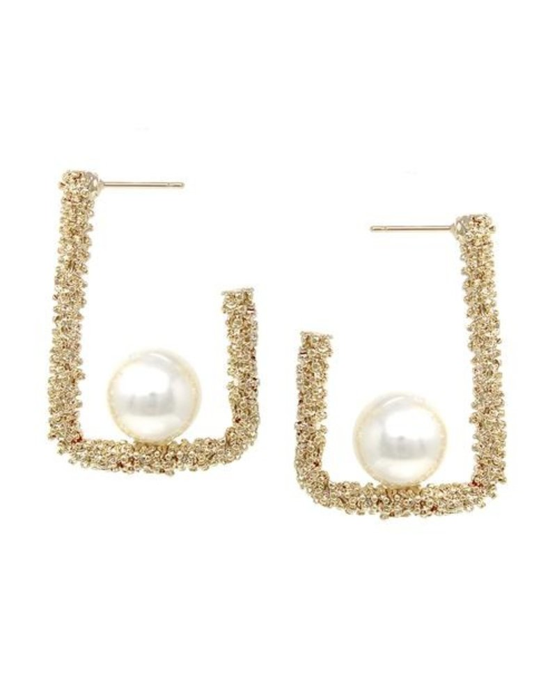 Mint + Major Square Pearl Earrings