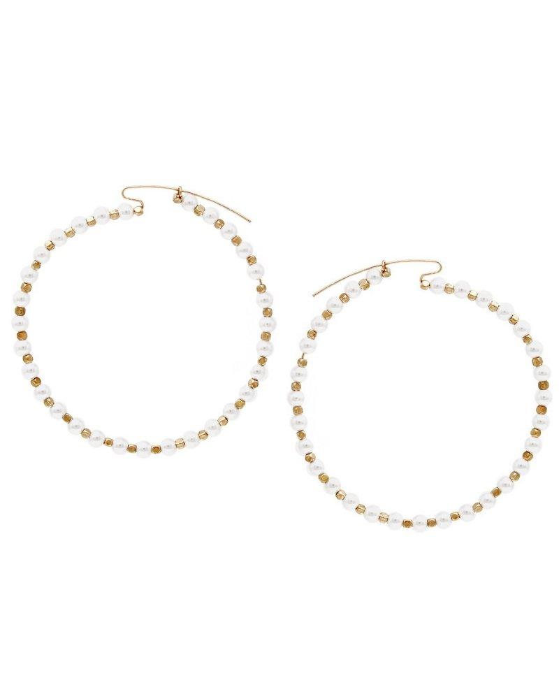 Mint + Major Multi Pearl Hoops