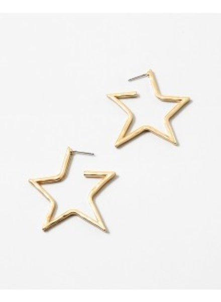 Mint + Major Wide Star Hoop