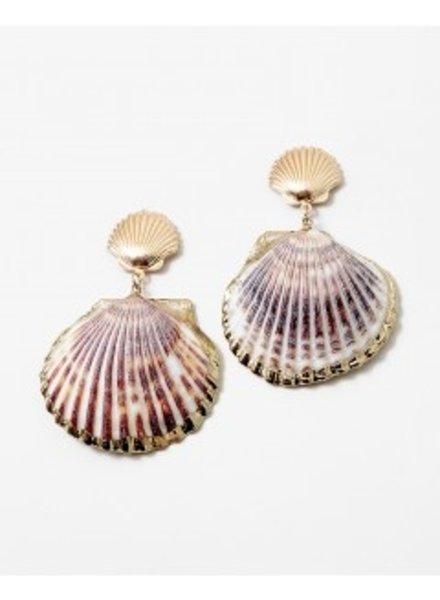 Mint + Major Oversized Shell Earrings