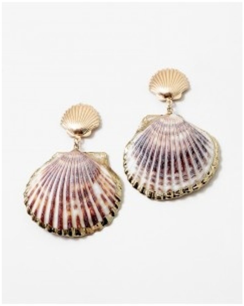 Mint + Major Oversized Shell Earrings