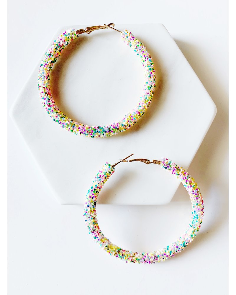 Mint + Major Tubular Beaded Hoop