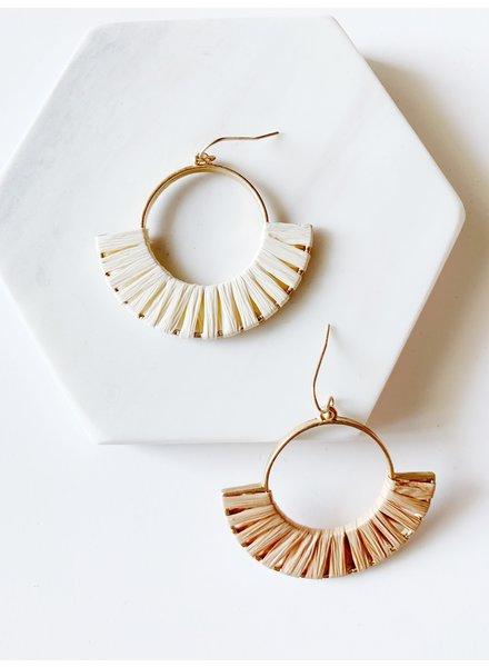 Mint + Major Half Circle Woven Earring