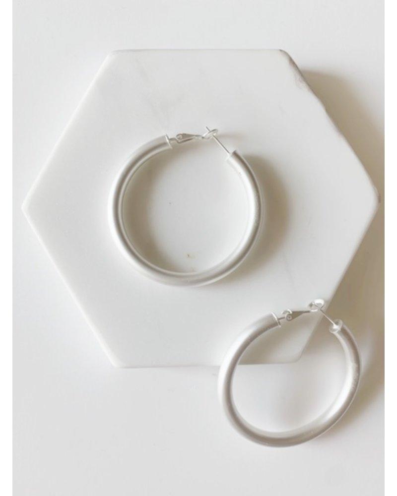 Mint + Major Matte Hoop Earrings