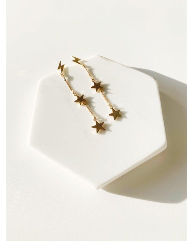 Mint + Major Lighting & Star Drop Earrings
