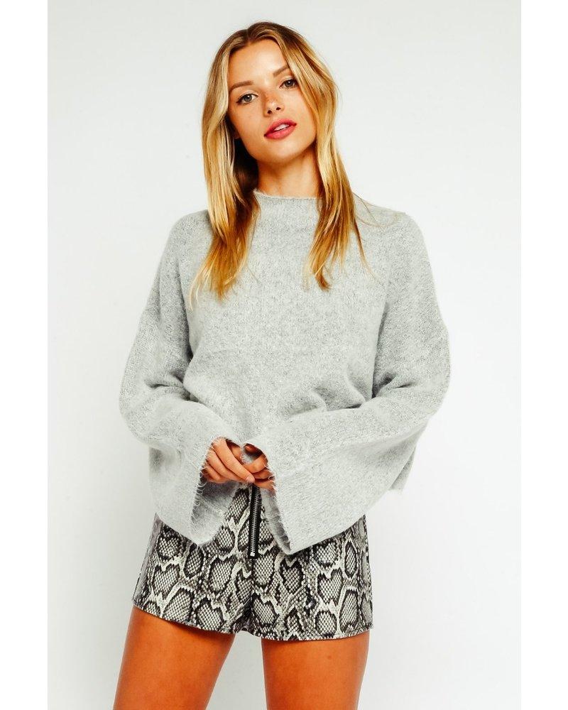 Crew Neck Crop Sweater