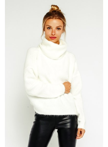 Cut Out Turtleneck Sweater