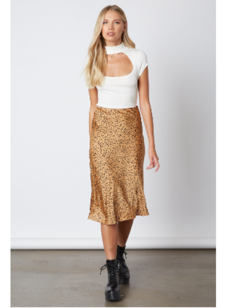 Spotted Silk Skirt